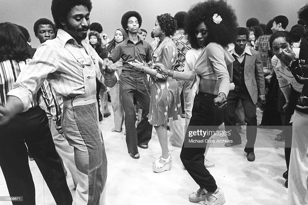 December 18, 1976, California, Hollywood, Soul Train Soul Train TV show dancers.