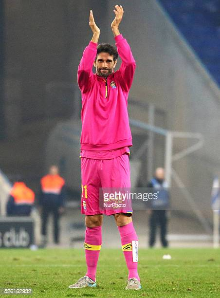 Juan Carlos Valeron during the match between RCD Espanyol and UD Las Palmas corresponding to the week 16of the spanish League played at the Power8...