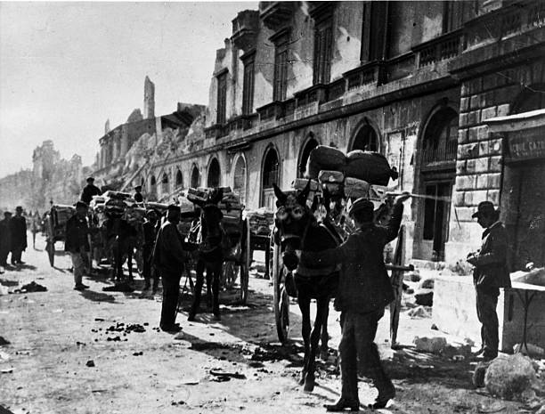 Messina in Sicily after an earthquake that destroyed...