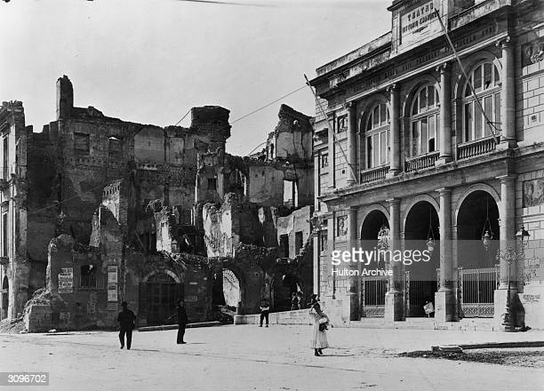 The town of Messina in Sicily after an earthquake that destroyed half the town and killed over 77000 people