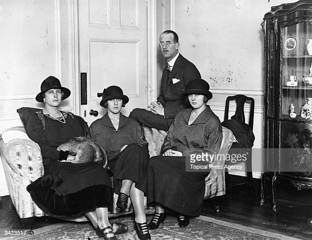 Prince Andrew of Greece with his wife Princess Alice and their daughters Princess Theodora and Princess Margarita