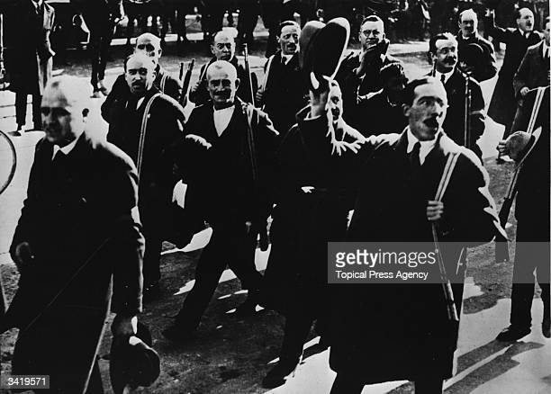 Fascist parade held to celebrate the return of King Alfonso XIII to Madrid.