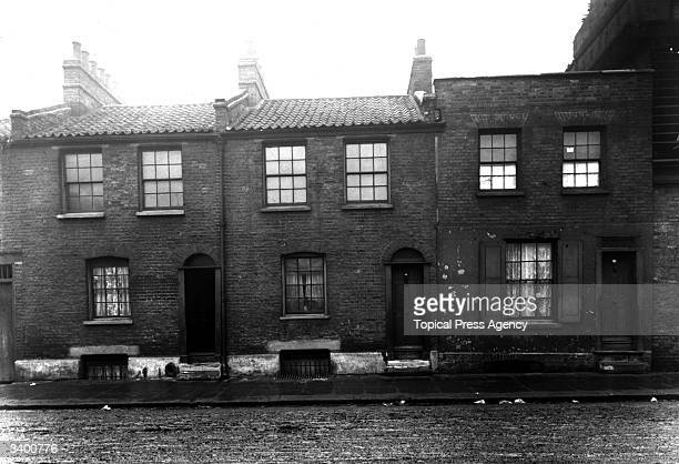 Squalid backstreet in Bethnal Green London