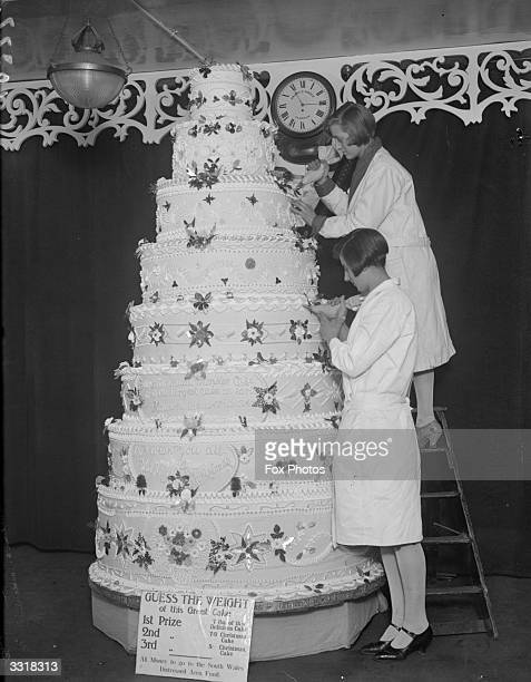 Experts put the finishing touches to the biggest cake in Clapham.