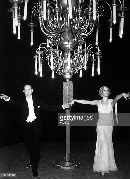 Jessie Matthews and Sonnie Hale performing 'Dancing on the Ceiling' from the show 'Evergreen' at the Adelphi Theatre London