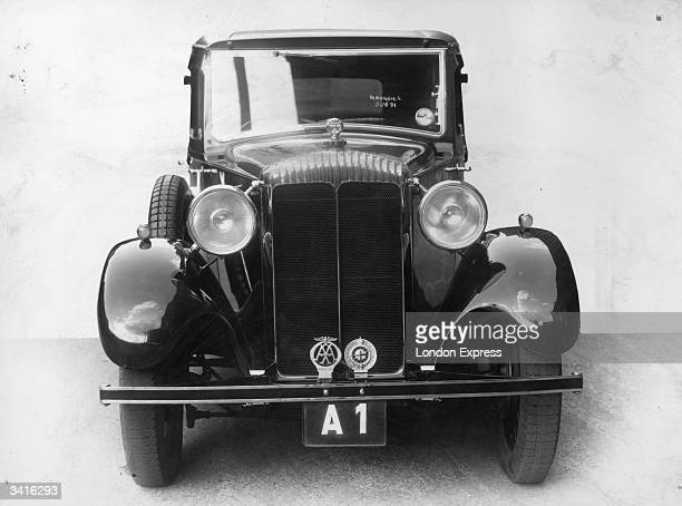 Saloon car with the registration plate A1, the first ever identification plate for motor cars in Britain, which came into existence in 1903.