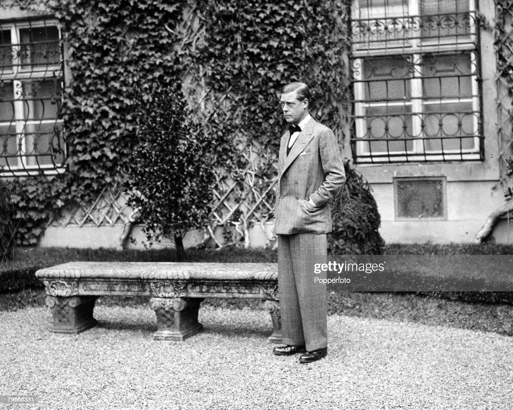 December 1936, Austria, The Duke of Windsor at Engelsfeld, Austria at the start of his exile following his abdication from the throne : News Photo