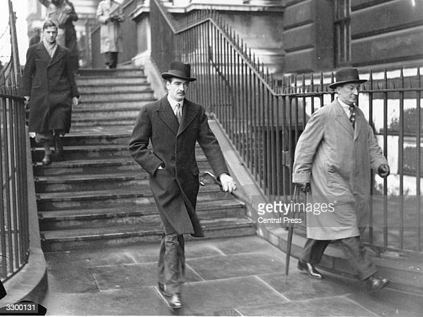 Sir Anthony Eden on his way to 10 Downing Street during the King Edward VIII Abdication crisis