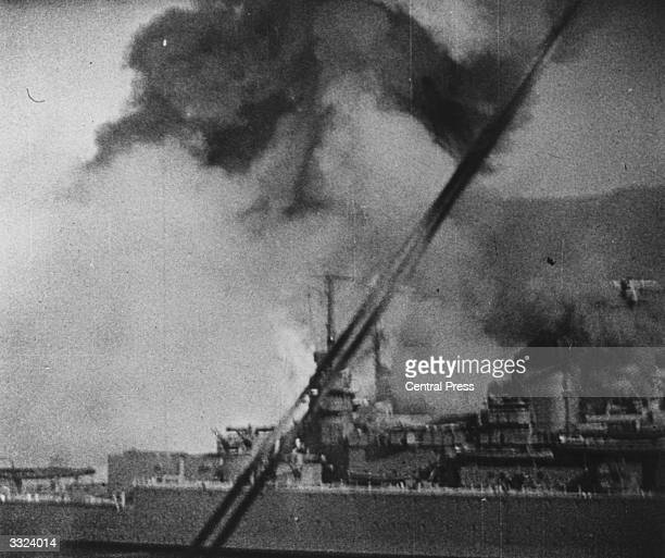 In the Battle of Oran ships of the British Mediterranean Fleet battered units of the French Fleet to prevent them falling into Nazi hands A French...