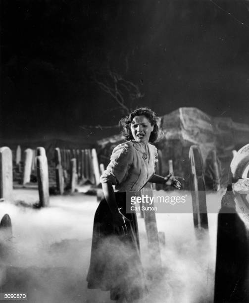 Film actress Elizabeth Sellars in a scene from 'The Intruder' an Associated British Film made at Elstree She is haunted in her dreams by the ghost of...
