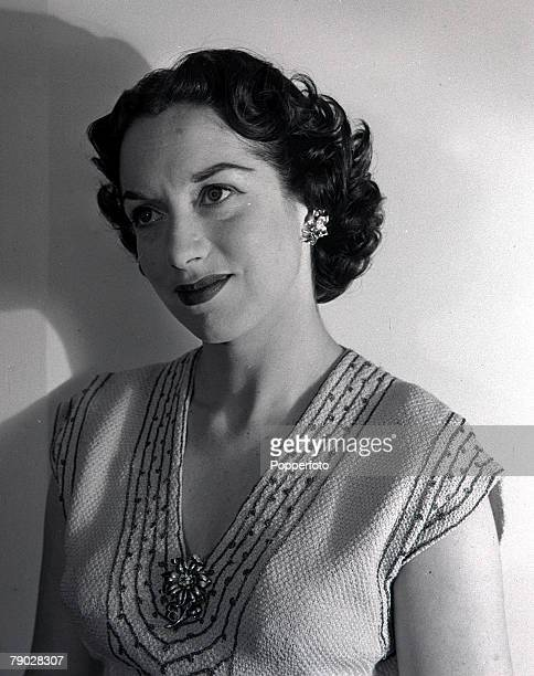 December 1953 Portrait of actress Pat Kirkwood at her home in London