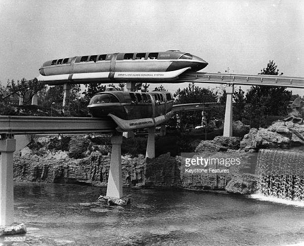 Monorail rides at Disneyland California