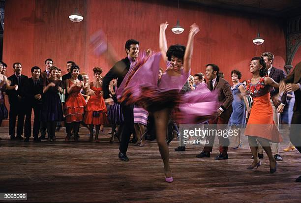 Rita Moreno and George Chakiris get the floor to themselves in a scene from 'West Side Story' directed by Robert Wise and Jerome Robbins