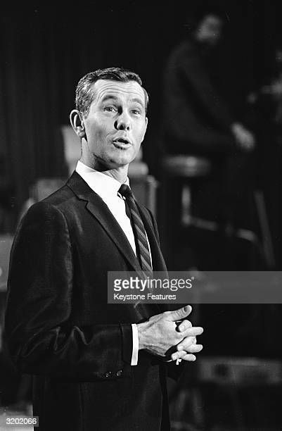 Johnny Carson, star of NBC's 'Tonight' show, one of the channel's flagship, colour programmes.