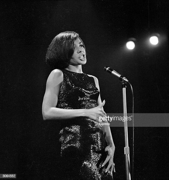 Welsh singer Shirley Bassey at the Pigalle nightclub in London