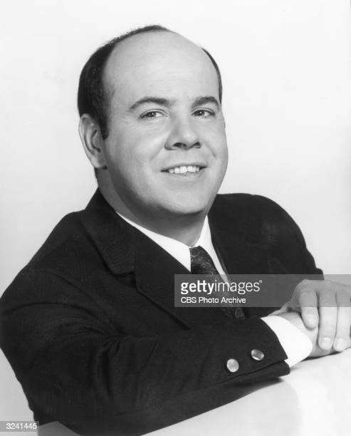 Promotional headshot portrait of American actor Tim Conway for the premiere of his television series, 'The Tim Conway Show'. He is smiling, wearing a...
