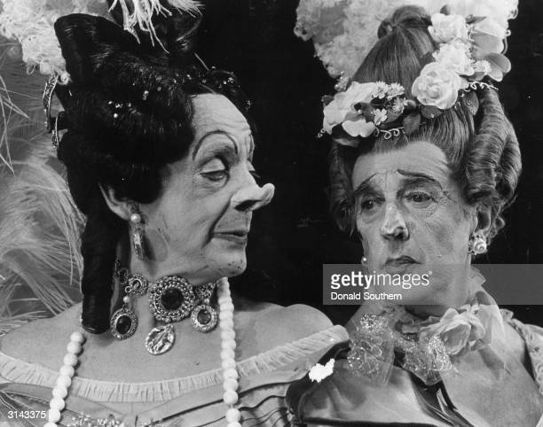 The Ugly Sisters from the Royal Ballet's performance of Cinderella L to r Ecuador born Frederick Ashton and Robert Helpmann