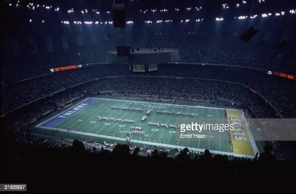 A game of collegiate football at the Superdome New Orleans between Tulane and LSU