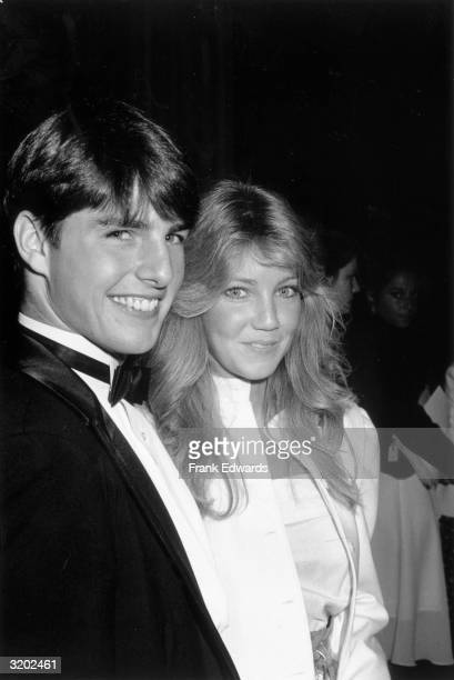 American actors Tom Cruise and Heather Locklear smile at the premiere of director Harold Becker's film 'Taps' Los Angeles California The film was...