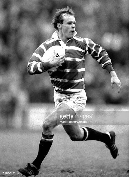 28 December 1983 Rugby Union Leicester v Barbarians Leicester centre Clive Woodward runs with the ball