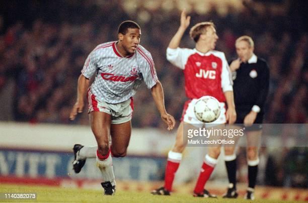 2 December 1990 Arsenal v Liverpool English Football Division One London John Barnes of Liverpool