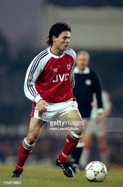 2 December 1990 English Football Division One Arsenal v Liverpool Anders Limpar of Arsenal