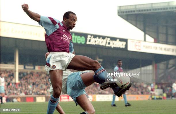 December 1991 - Football League Division One - Aston Villa v Manchester City - Cyrille Regis of Aston Villa -