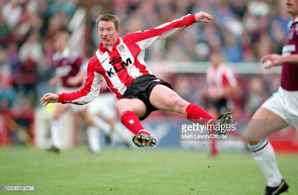 20 December 1992 Football League Division 1 Brentford v West Ham United Lee Luscombe of Brentford flies through the air