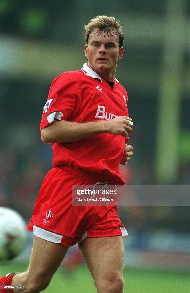 27 December 1993 Premier League Football - Swindon Town v Arsenal, Keith Scott of Swindon.