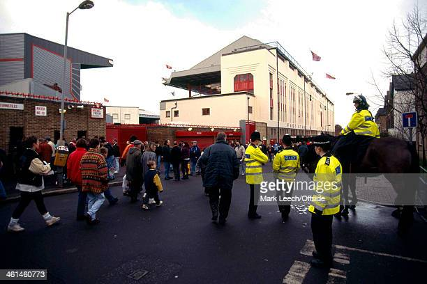 26 December 1994 FA Premiership Football Arsenal v Aston Villa Exterior shot of Arsenal Stadium Highbury