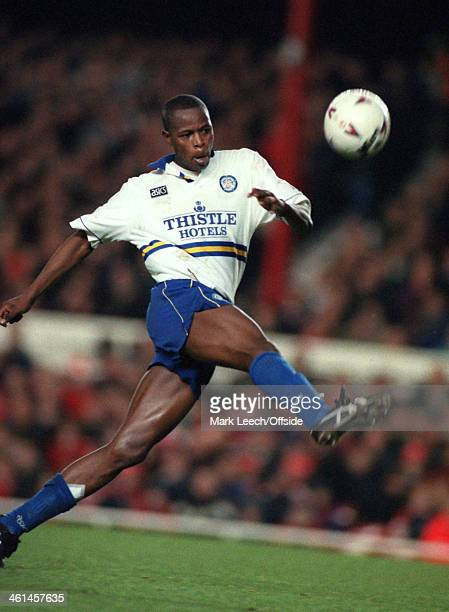 17 December 1994 FA Premiership Football Arsenal v Leeds United Phil Masinga of Leeds