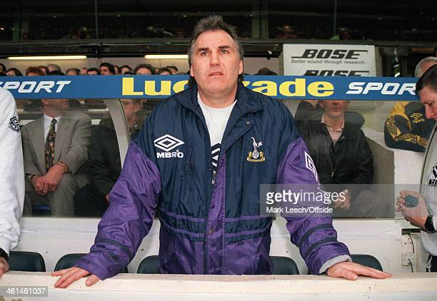 10 December 1994 Premiership Football Tottenham Hotspur v Sheffield Wednesday Tottenham manager Gerry Francis