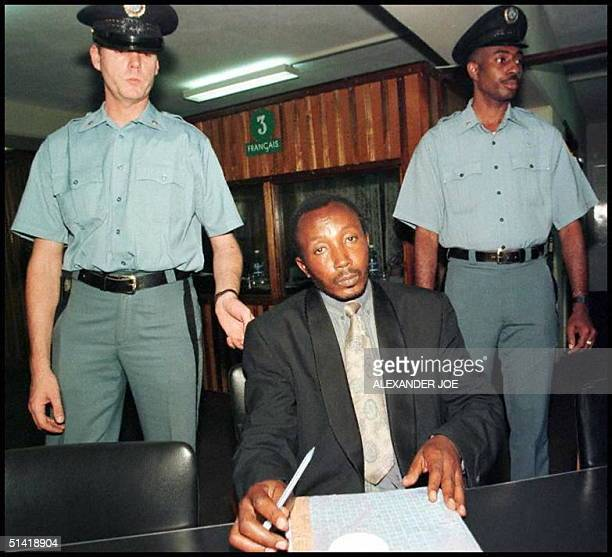 December 1995 picture of former teacher and mayor of Taba JeanPaul Akayesu in Arusha Rwandan Hutu Akayesu the first suspect to be tried by the...