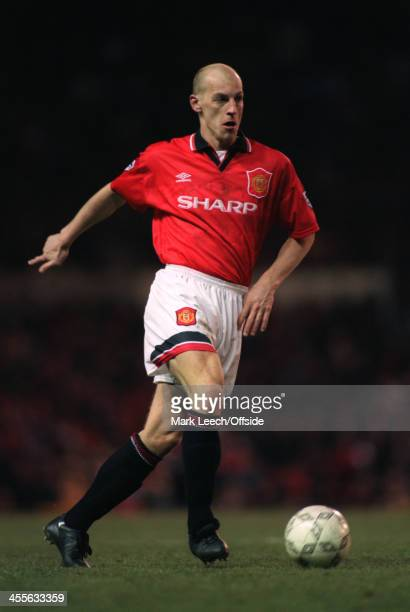 30 December 1995 Premiership Manchester United v Queens Park Rangers William Prunier of Manchester United runs with the ball