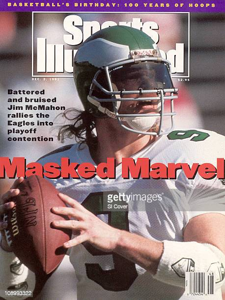 December 2 1991 Sports Illustrated CoverFootball Closeup of Philadelphia Eagles QB Jim McMahon in action vs Phoenix Cardinals at Sun Devil...