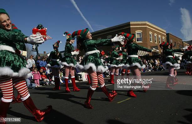 December 2 2006 CREDIT Carol Guzy/ TWP Manassas VA 61st Annual Christmas Parade in Old Towne Manassas Members of the South Riding Dance Club perform...