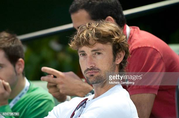 December 2 2012 JUAN CARLOS FERRERO watching the match Nicolas Almagro Beats Andy Roddick In Miami Tennis Cup Final