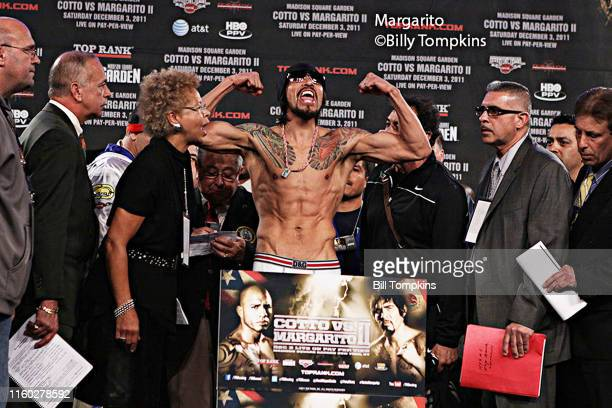 December 2: MANDATORY CREDIT Bill Tompkins/Getty Images Antonio Margarito weighs-in in preparation for his Welter-weight fight against Miguel Cotto....