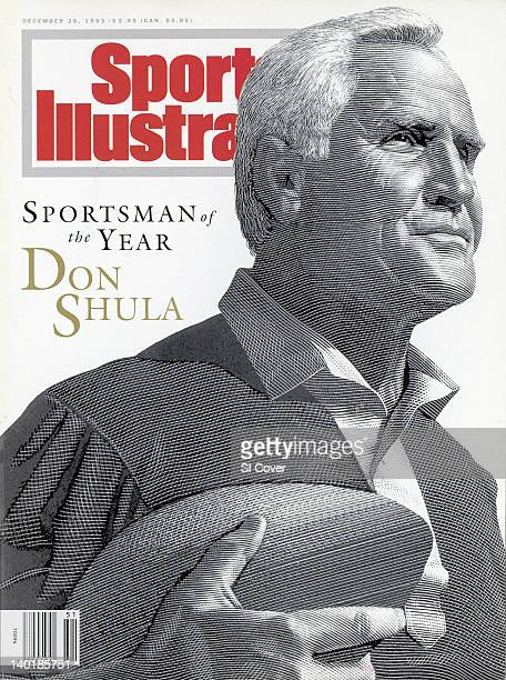 December 20 1993 Sports Illustrated via Getty Images Cover Sportsman of the Year Illustration of Miami Dolphins head coach Don Shula by Art...