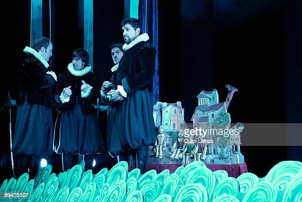 December, 2005. Madrid Dress rehearsal in the Pavon theater of the play 'Viaje del Parnaso' of Miguel de Cervantes with the performance of the...