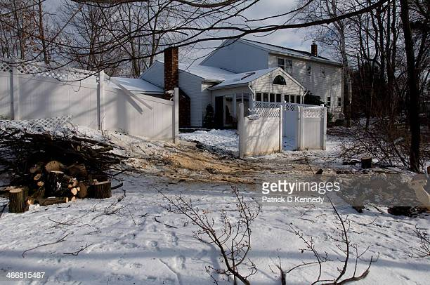 December 2007 Ice Storm in Northeast USA Large tree damage to fence and house