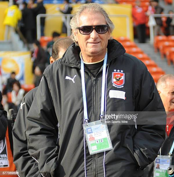 Al Ahly coach Manuel Jose during the FIFA Club World Cup quarterfinal match between Pachuca and Al Ahly at National Stadium in Tokyo