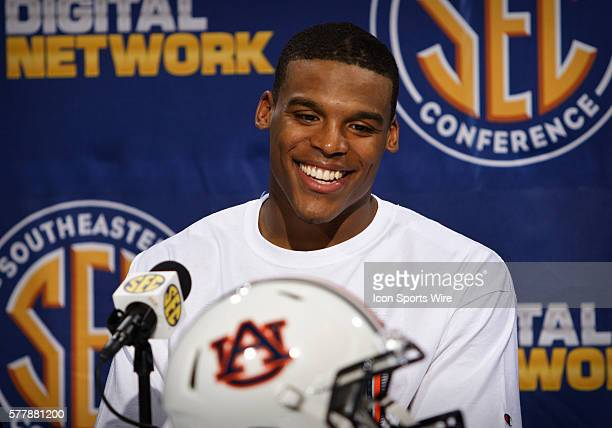 Auburn Quarterback Cam Newton in the postgame press conference in Auburn Tigers 5617 victory over the South Carolina Gamecocks in the SEC...