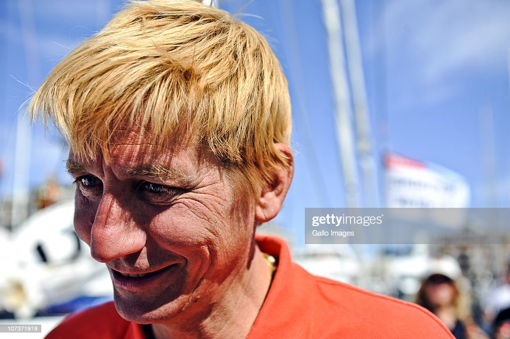 December 2010 (SOUTH AFRICA, UAE, BRAZIL AND TURKEY OUT): Belgian Christophe Bullen and solo skipper of the 18.28m long 'Five Oceans of Smiles' docked at the V & A Marina on 6 December 2010 in Cape Town, South Africa. He docked after nearly two months alone at sea. Bullen was the last of the five solo skippers to dock in the Velux 5 Ocean ultimate solo challenge. They will leave on 12 December 2010 for Wellington.