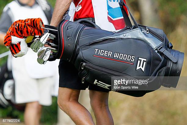 Tiger Woods Bag during second round of the Chevron World Challenge at the Sherwood Country Club in Thousand Oaks CA