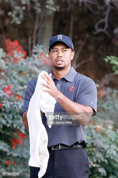 Tiger Woods during second round of the Chevron World Challenge at the Sherwood Country Club in Thousand Oaks CA