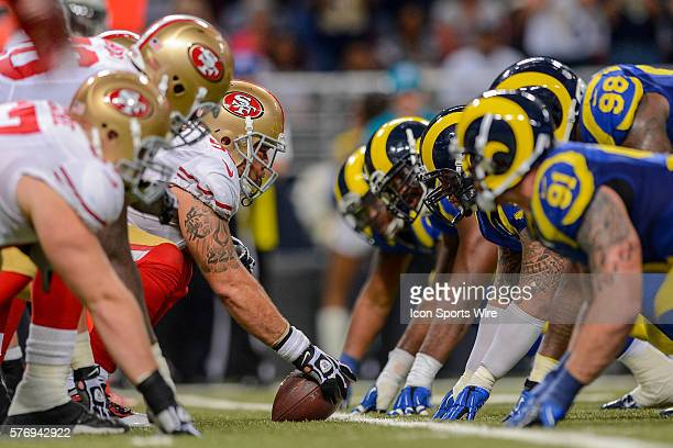 San Francisco 49ers center Jonathan Goodwin in game action The St Louis Rams defeated the San Francisco 49ers by the score of 1613 in overtime at...