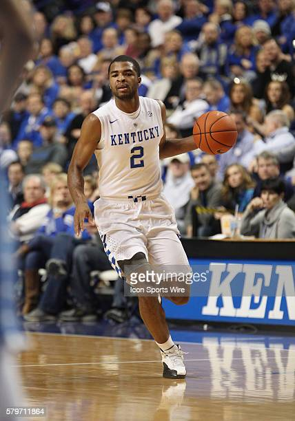 Kentucky Wildcats guard Aaron Harrison in a game between the Columbia University Lions and the Kentucky Wildcats at Rupp Arena in Lexington, KY.