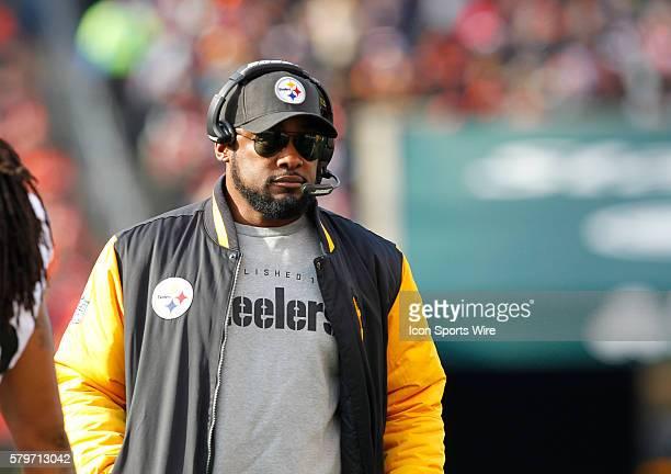 Pittsburgh Steelers head coach Mike Tomlin against the Cincinnati Bengals in their NFL game at Paul Brown Stadium in Cincinnati Ohio December 7 2014