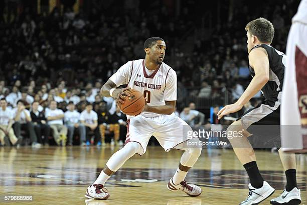 Boston College Eagles forward Garland Owens looks for an open teammate to receive the pass during the Boston College Eagles game against the...